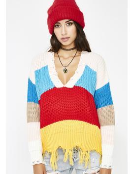 Lollipop Gangsta Knit Sweater by Hello Miss