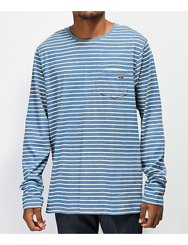 Salty Crew Scallywag Stripe Stone Long Sleeve T Shirt by Salty Crew