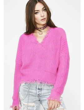 Brighter Days Distressed Sweater by Day Night
