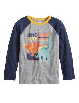 Boys 4 12 Jumping Beans® Retro Dinosaurs Raglan Graphic Tee by Boys 4 12 Jumping Beans