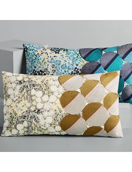 Embroidered Dot Floral Pillow Covers by West Elm