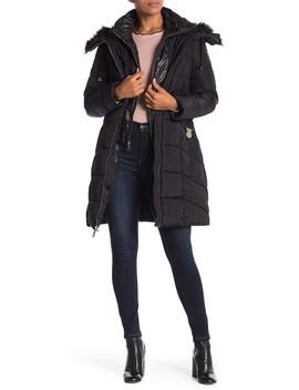 Faux Fur Trim Jacket by Guess