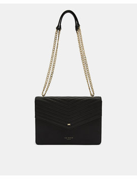 Leather Envelope Cross Body Bag by Ted Baker