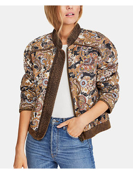 Great Escape Cotton Printed Quilted Jacket by Free People