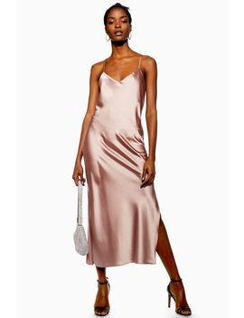Plain Satin Slip Dress by Topshop