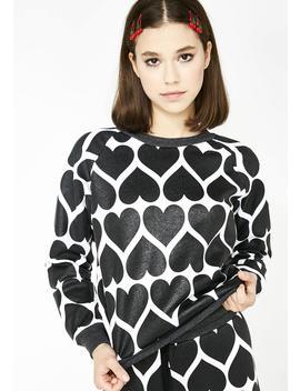 Dark Hearts Junior Sweatshirt by Wildfox Couture