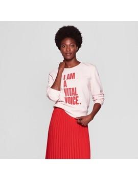 Women's Long Sleeve Graphic Sweatshirt   A New Day™ + Vital Voices   Pink by A New Day + Vital Voices