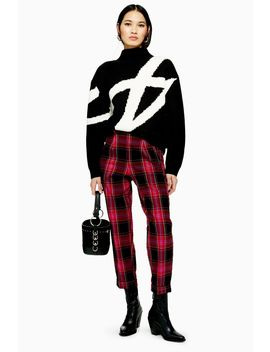 Check Tapered Trousers by Topshop