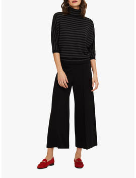 Phase Eight Lenka Ponte Wide Leg Trousers, Black by Phase Eight