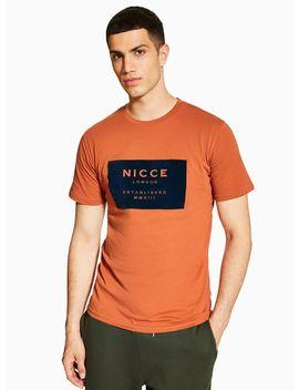 Nicce Orange 'mmxiii' T Shirt by Topman