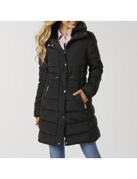 Simply Styled Women's Long Puffer Jacket by Sears