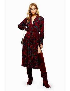 Paisley Print Oversized Shirt Dress by Topshop
