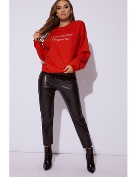 Dani Dyer Red Christmas Slogan Sweater by In The Style