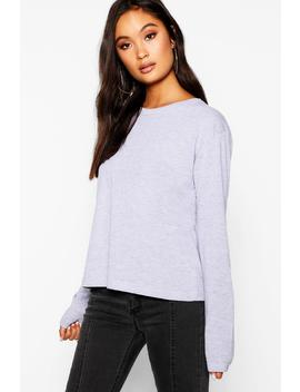 Basic Cotton Sleeve Cotton T Shirt by Boohoo