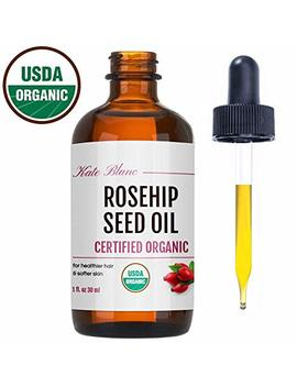 Rosehip Seed Oil By Kate Blanc. Usda Certified Organic, 100 Percents Pure, Cold Pressed, Unrefined. Reduce Acne Scars. Essential Oil For Face, Nails, Hair, Skin. Therapeutic... by Kate Blanc Cosmetics