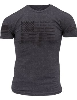 Grunt Style Men's Ammo Flag Short Sleeve T Shirt by Grunt Style