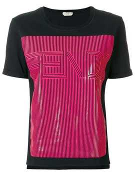 Contrast Logo Patch T Shirt by Fendi