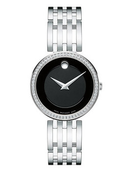 Women's Swiss Esperanza Diamond (1/4 Ct. T.W.) Stainless Steel Bracelet Watch 28mm 0607052 by Movado