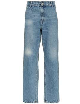 Faded Straight Cotton Jeans by Ader Error