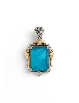 'iliada' Rectangle Pendant by Konstantino