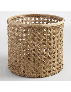 Large Natural Rattan Farrah Utility Basket by World Market