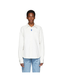 White Oxford Tod Shirt by Ader Error