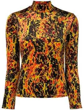 Velvet Printed Top by Jean Paul Gaultier Vintage