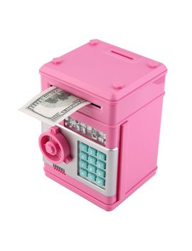 7colors Kids Electronic Money Safe Box Password Saving Bank Atm For Coins And Bills Code Key Case System Money Saving Box by Outad