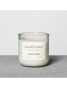 Container Candle 10oz Orange Amber   Hearth & Hand™ With Magnolia by Shop This Collection