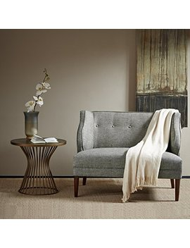 Madison Park Fpf18 0413 Sorano Tufted Round Arm Settee by Madison Park
