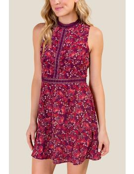 Macy Floral Cut Out Dress by Francesca's