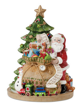 Figurine Gifts From Santa Musical Collectible Figurine by Fitz And Floyd
