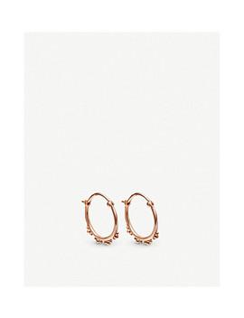 Floris 18ct Rose Gold Vermeil Hoop Earrings by Astley Clarke