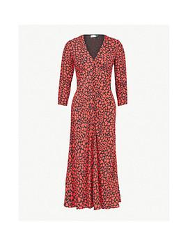 Katie Heart Print Woven Dress by Rixo