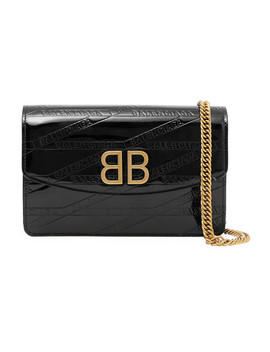 Bb Patent Leather Shoulder Bag by Balenciaga