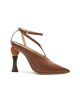 Leather Faya Heels by Jacquemus