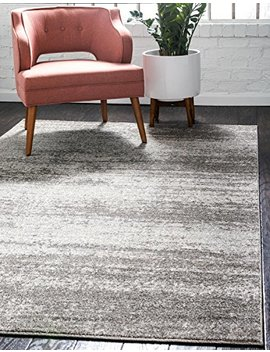 Unique Loom 3123773 Del Mar Collection Contemporary Transitional Area Rug, 7' X 10' Rectangle, Gray by Unique Loom