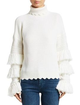 Wool Tassel Turtleneck Sweater by Jonathan Simkhai