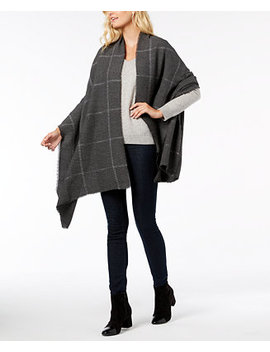 Windowpane Pleated Super Soft Scarf & Wrap, Created For Macy's by Charter Club