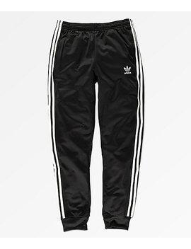 Adidas Boys Superstar Black Sweatpants by Adidas