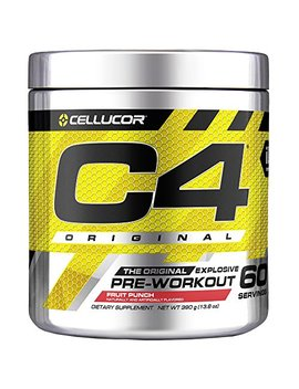 Cellucor C4 Original Pre Workout Powder Energy Drink W/ Creatine, Nitric Oxide & Beta Alanine, Fruit Punch, 60 Servings by Cellucor
