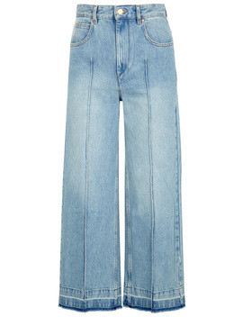 Cabrio Blue Cropped Flared Jeans by Isabel Marant Étoile