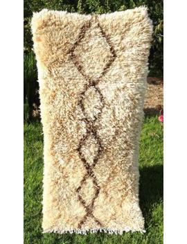 "Moroccan Handmade Rugs Azilal Rug Berber Carpet Wool Rug 5'4"" X 2'4"" by Handmade"