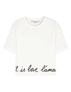 All Is Love Stretch Cotton T Shirt by Stella Mc Cartney