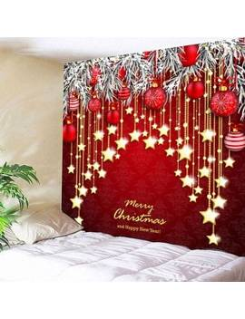 "<P>Christmas Ball And Star Print Wall Hanging Tapestry</P><I Class=""Icon Down Js Tap Up Down""></I> by Dress Lily"