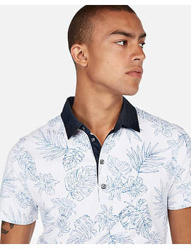 """<A Href=""""/Clothing/Men/Floral Moisture Wicking Signature Stretch Polo/Pro/05047805/Cat1830014"""">Floral Moisture Wicking Signature Stretch Polo</A> by Express"""