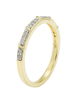 Gold Over Sterling Silver 1/10 Cttw Diamond Stackable Ring   Size 7 Only Gold Over Sterling Silver 1/10 Cttw Diamond Stackable Ring   Size 7 Only by Sears