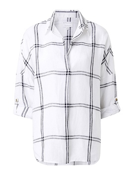 Check Linen Shirt by Witchery