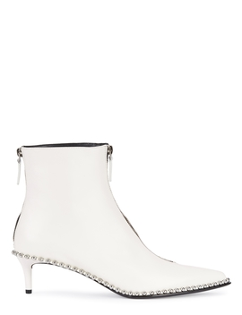 Eri Embellished Leather Ankle Boots by Alexander Wang