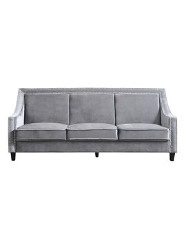 House Of Hampton Trista Nailhead Trim Wood Legs Couch Sofa by House Of Hampton